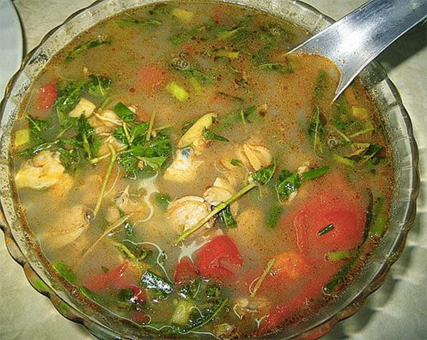 Món canh ngao chua - cách nấu canh chua