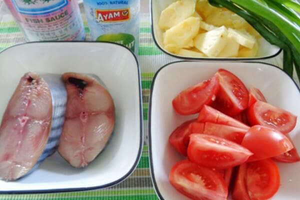 Nguyên liệu cho canh cá nấu dứa