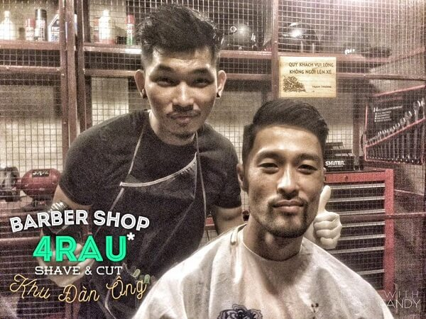 Tiệm 4RAU Barber Shop - Quận 1, TP.HCM.