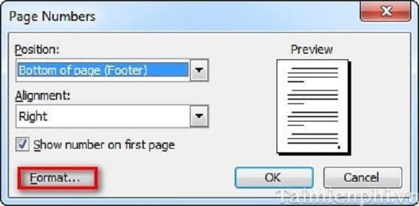 4 cách đánh số trang trong word 2010, 2013 theo ý muốn từ trang đầu tiên hoặc trang bất kỳ 4