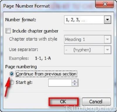 4 cách đánh số trang trong word 2010, 2013 theo ý muốn từ trang đầu tiên hoặc trang bất kỳ 5