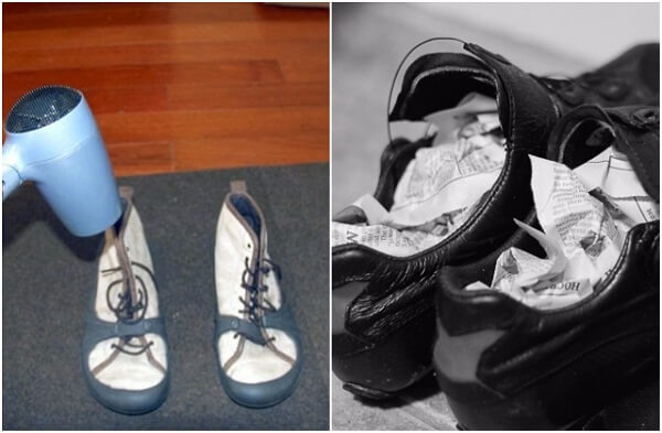 Phơi khô giày như thế nào là đúng cách