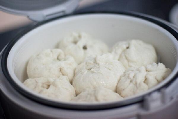 Cách hấp bánh bao bằng nồi cơm điện