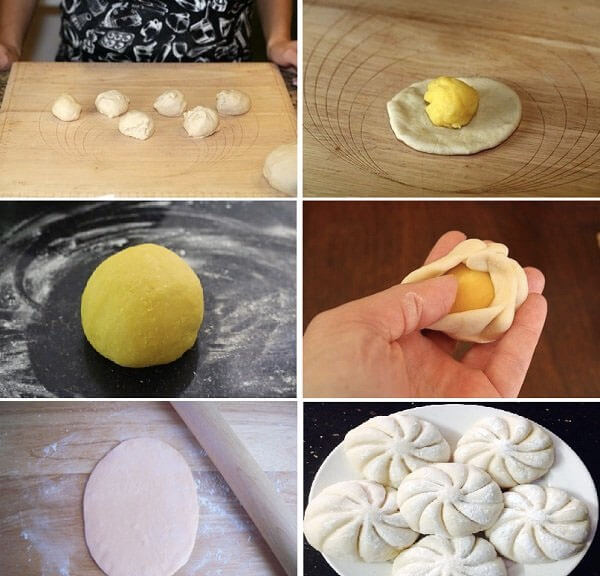 Cách làm bánh bao kim sa vàng trứng muối bằng bột mì, bột nở đơn giản chỉ 3 bước tại nhà