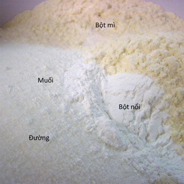 Trộn bột khô - cách làm pancake