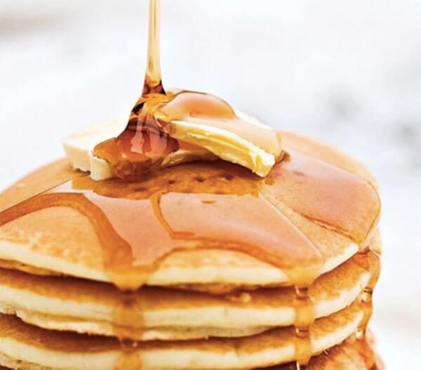Bánh pancake sau khi đã hoàn thành- cách làm bánh pancake