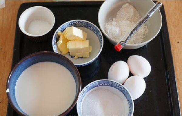 Cách làm bánh su kem – các nguyên liệu cần chuẩn bị để làm bánh su kem ngon