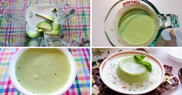 Những bước chính để làm chè bơ - cách làm chè bơ