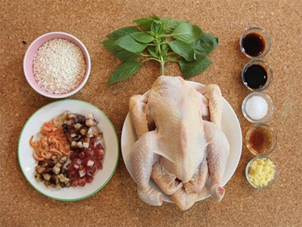 Nguyên liệu làm gà bó xôi – cách làm gà bó xôi mini