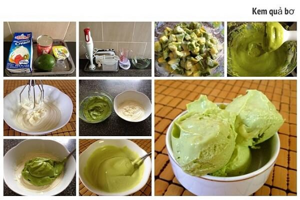 Cách làm kem bơ sữa tươi không cần kem tươi đơn giản