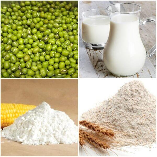 Các nguyên liệu cần chuẩn bị trước khi làm kem đậu xanh - cách làm kem đậu xanh tại nhà