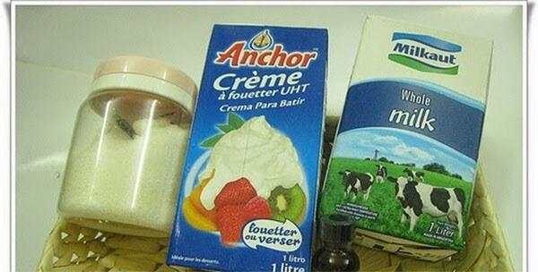 Phần đường sữa để làm kem