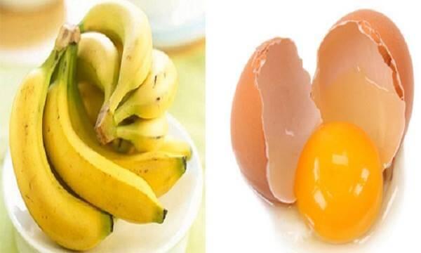 Mặt nạ làm trắng da bằng chuối và trứng gà