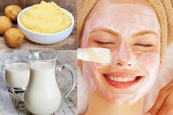 Cách làm mặt nạ khoai tây sữa tươi