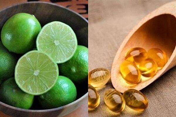 Vitamin E và nước cốt chanh liệu pháp trắng da hiệu quả.