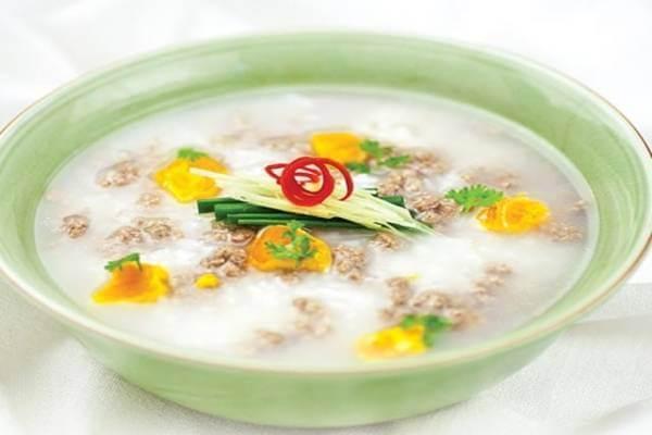 Cháo trứng bắc thảo