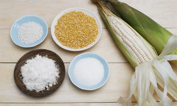 Nguyên liệu nấu chè bắp đậu xanh
