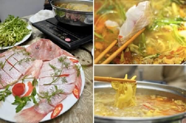 Thưởng thức lẩu cá diêu hồng – lau ca dieu hong