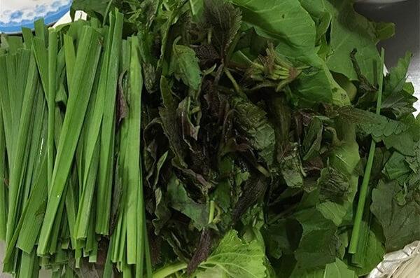 Các loại rau ăn kèm lẩu dê
