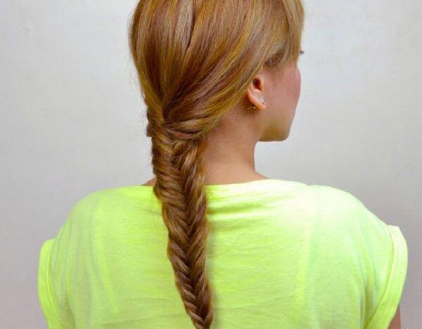 Cuối cùng các bạn chỉ cần dùng dây chun cột cố định tóc lại là được
