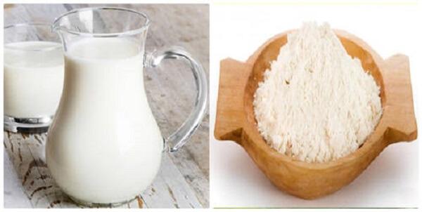 Cách rửa mặt bằng sữa tươi không đường cho da khô