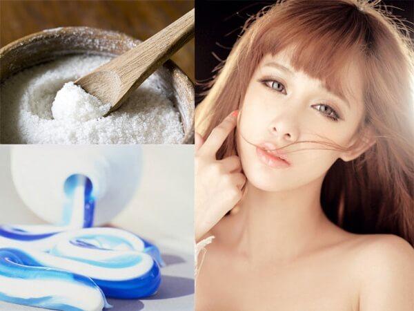 Trị mụn đầu đen ở mũi bằng kem đánh răng và muối giúp loại bỏ hoàn toàn mụn đầu đen