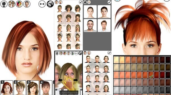 Phần mềm thử kiểu tóc online Hair Tutorial