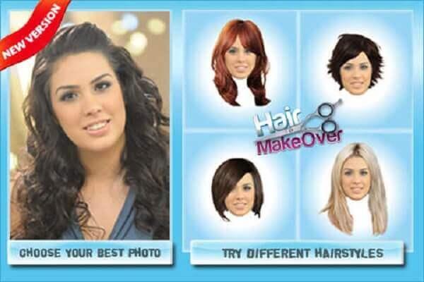Phần mềm chọn kiểu tóc Hair Makeover