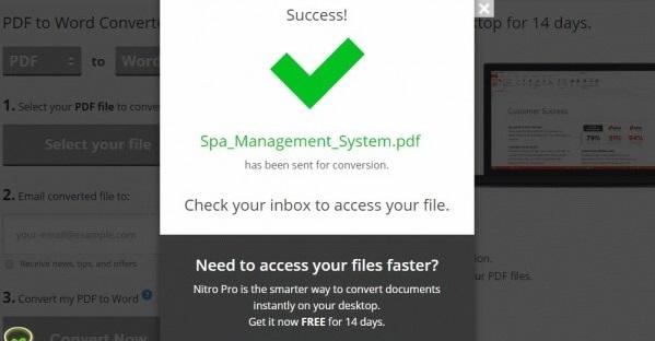 Quá trình chuyển đổi pdf sang word thành công