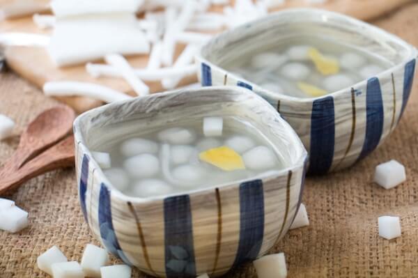Chè bột lọc bọc dừa – nấu chè bột lọc