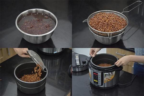 Nấu chè đậu đỏ bằng nồi cơm điện – cách nấu chè đậu đỏ ngon