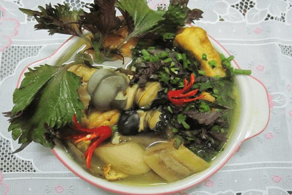 ốc bươu nấu chuối xanh 2