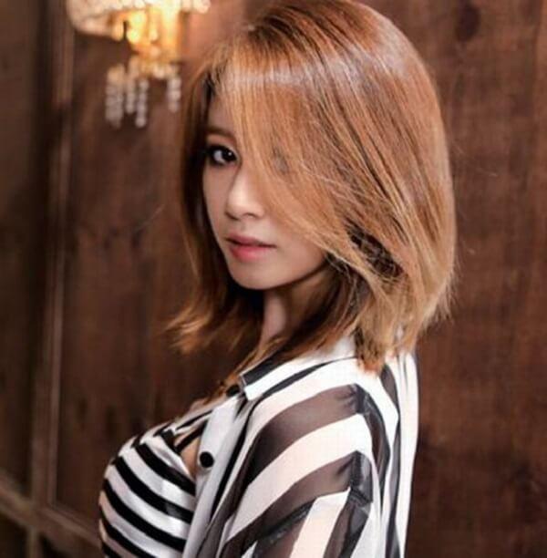 10 Kiểu tóc uốn nhẹ phần đuôi Hàn Quốc đẹp long lanh-hình số-6