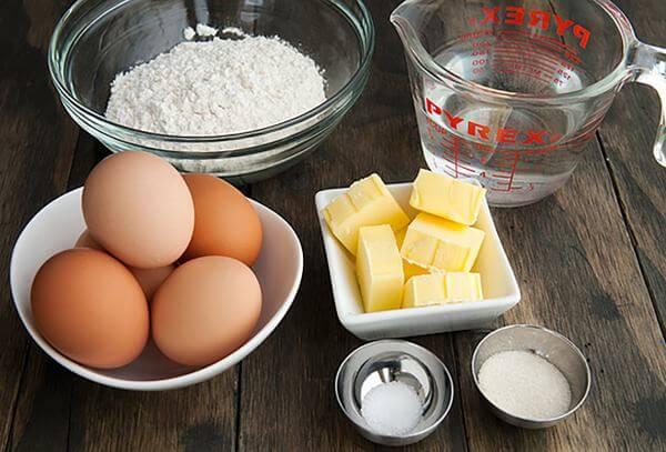 Nguyên liệu để làm bánh bông lan nướng và hấp – cách làm bánh bông lan đơn giản