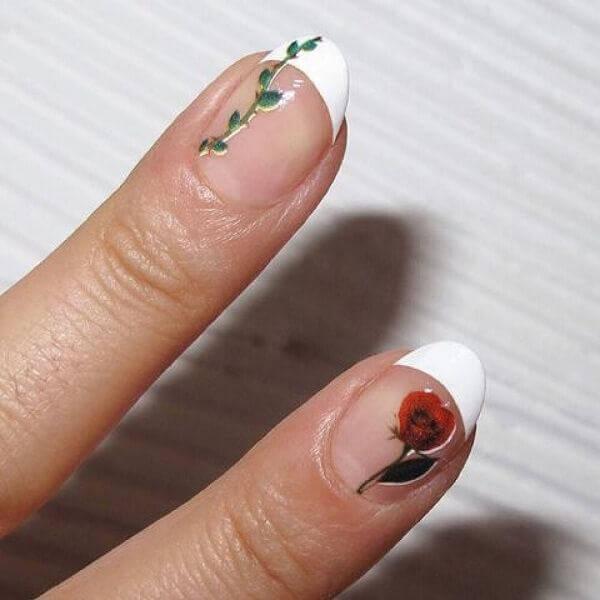 Học tiết nail hoa cỏ đơn giản mà dễ thương