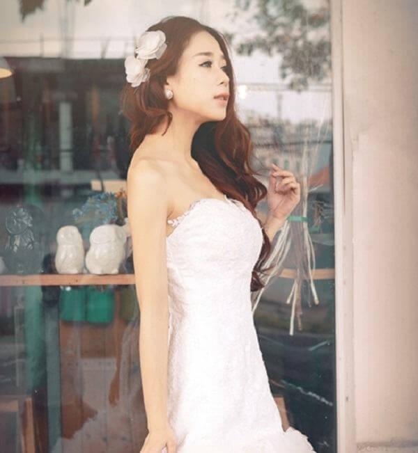 40+ kiểu tóc cô dâu đẹp đơn giản mà đẹp dễ thương trong ngày cưới, kiểu tóc Hàn Quốc cho mặt tròn 1
