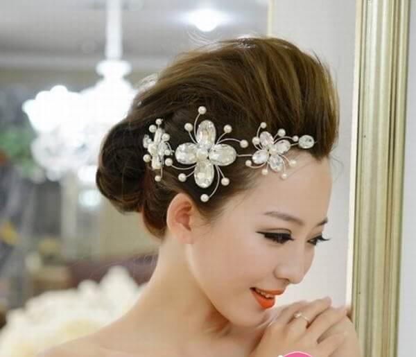 40+ kiểu tóc cô dâu đẹp đơn giản mà đẹp dễ thương trong ngày cưới, kiểu tóc Hàn Quốc cho mặt tròn 10