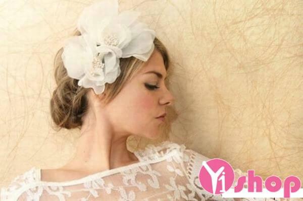 40+ kiểu tóc cô dâu đẹp đơn giản mà đẹp dễ thương trong ngày cưới, kiểu tóc Hàn Quốc cho mặt tròn 14
