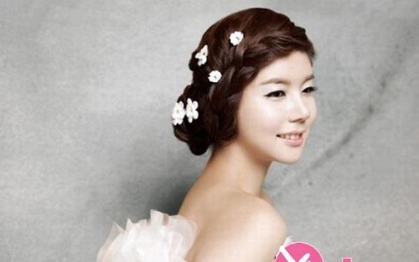 40+ kiểu tóc cô dâu đẹp đơn giản mà đẹp dễ thương trong ngày cưới, kiểu tóc Hàn Quốc cho mặt tròn 15