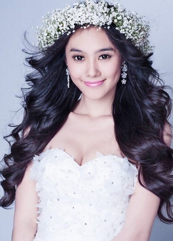 40+ kiểu tóc cô dâu đẹp đơn giản mà đẹp dễ thương trong ngày cưới, kiểu tóc Hàn Quốc cho mặt tròn 17