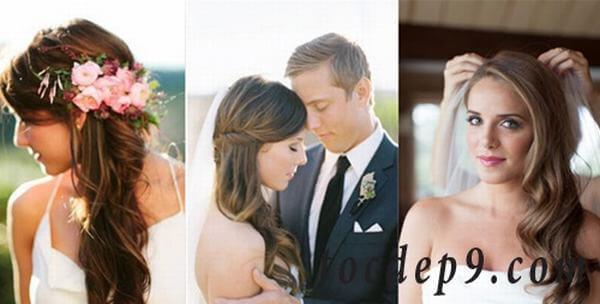 40+ kiểu tóc cô dâu đẹp đơn giản mà đẹp dễ thương trong ngày cưới, kiểu tóc Hàn Quốc cho mặt tròn 25