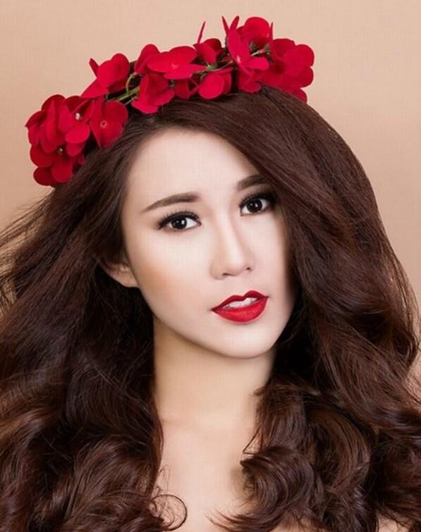 40+ kiểu tóc cô dâu đẹp đơn giản mà đẹp dễ thương trong ngày cưới, kiểu tóc Hàn Quốc cho mặt tròn 27
