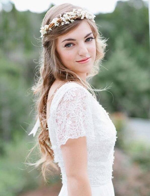 40+ kiểu tóc cô dâu đẹp đơn giản mà đẹp dễ thương trong ngày cưới, kiểu tóc Hàn Quốc cho mặt tròn 29