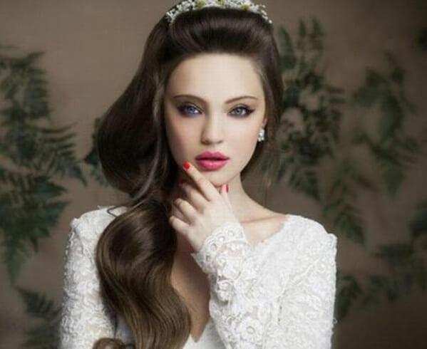 40+ kiểu tóc cô dâu đẹp đơn giản mà đẹp dễ thương trong ngày cưới, kiểu tóc Hàn Quốc cho mặt tròn 31