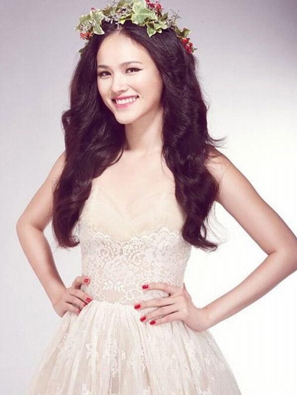 40+ kiểu tóc cô dâu đẹp đơn giản mà đẹp dễ thương trong ngày cưới, kiểu tóc Hàn Quốc cho mặt tròn 32