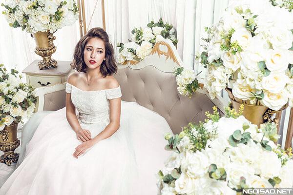 15 kiểu tóc cô dâu đẹp đơn giản mà đẹp dễ thương trong ngày cưới, kiểu tóc Hàn Quốc cho mặt tròn