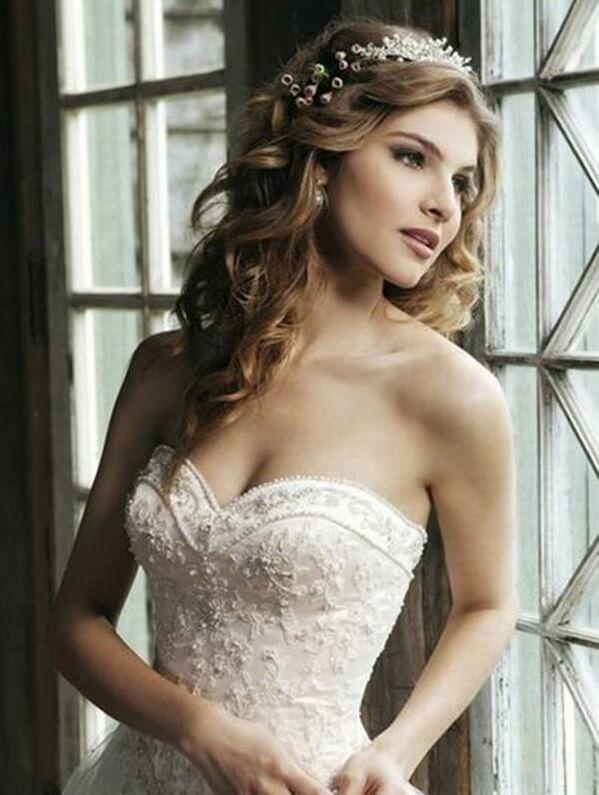 40+ kiểu tóc cô dâu đẹp đơn giản mà đẹp dễ thương trong ngày cưới, kiểu tóc Hàn Quốc cho mặt tròn 5