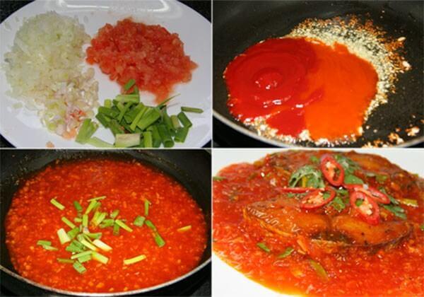 Làm sốt cà chua và sốt cá – cách làm cá sốt cà chua