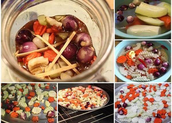 Cách làm củ kiệu dưa món theo kiểu miền Trung cho ngày Tết