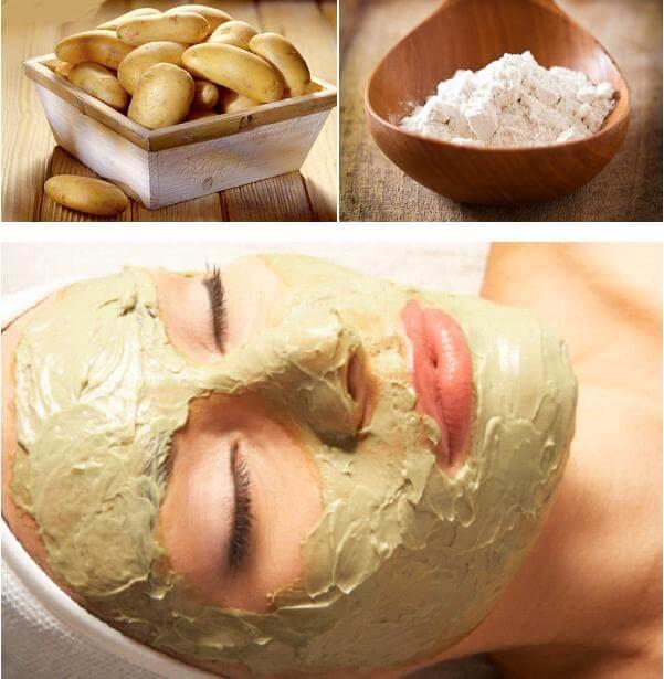 Cách làm mặt nạ trắng da mặt tự nhiên từ khoai tây, sữa tươi và mật ong